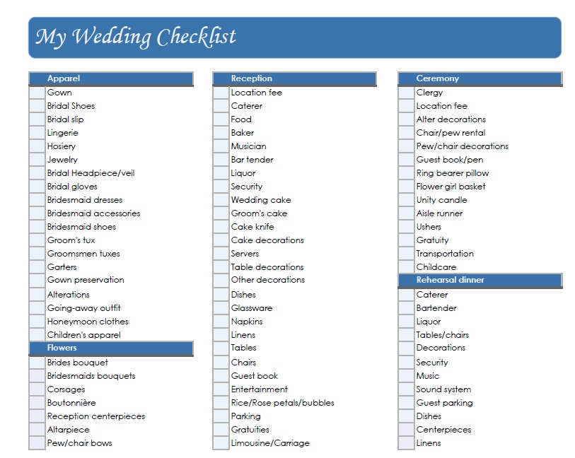 10 Points To Consider Before Choosing Your Wedding Planner – Wedding Planning Checklist in Pdf