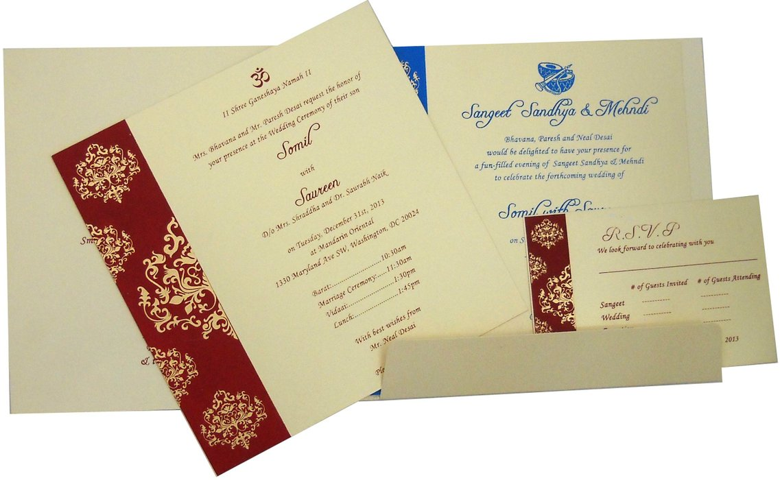 Mehndi Ceremony Cards : How to have a perfect eco friendly wedding