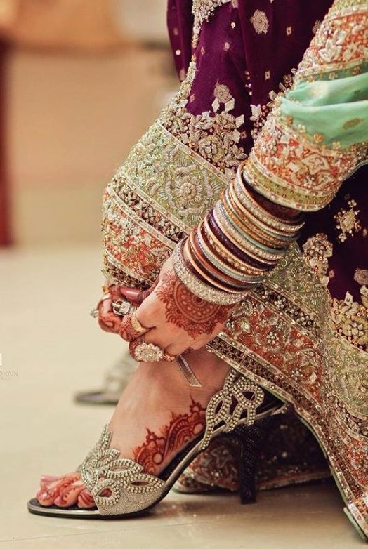 Pakistani Girl Heel Shoes