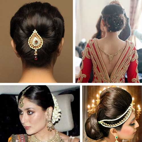 Hairstyle For Bride On Saree: Bridal Hair Accessories