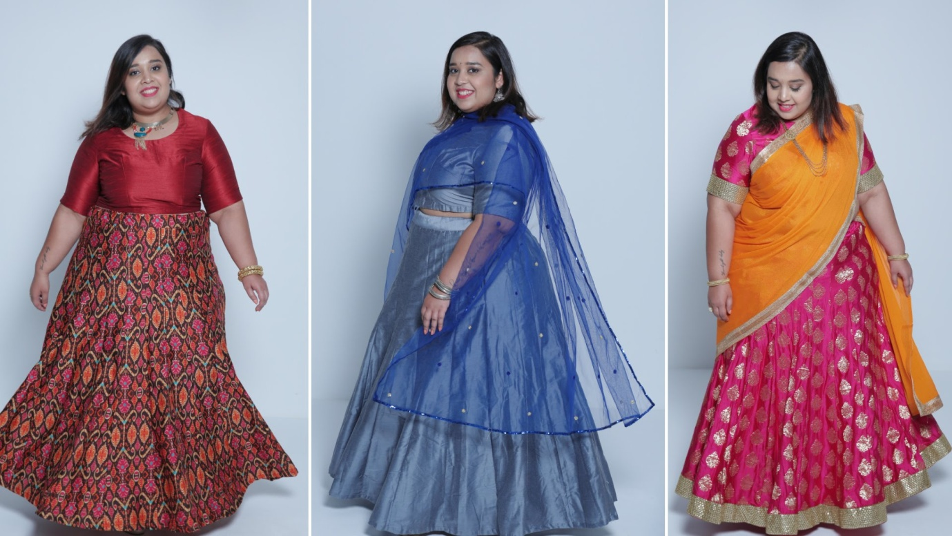 Wedding Gown Designs For Chubby: Image Result For Lehenga Styles For Plus Size
