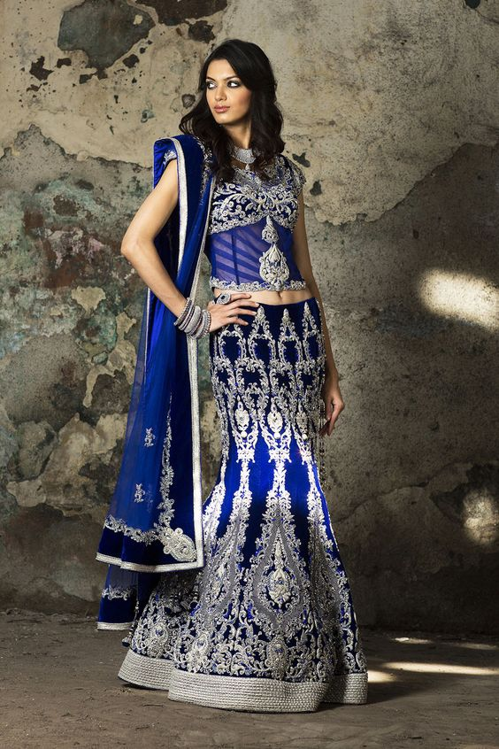 61fa648a3a Royal Blue Bridal Lehenga for a Royal Touch. Blogs by HamaraEvent on Wedding,  All Occassions, Party and Corporate Venues, Banquet Halls