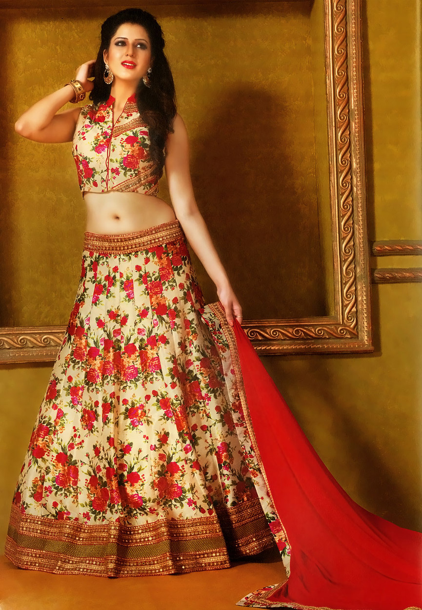 Image Result For Floral Lehenga Choli